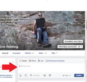 Partager du contenu sur Facebook