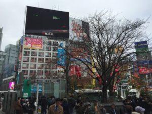 Les écrans géants de Shibuya