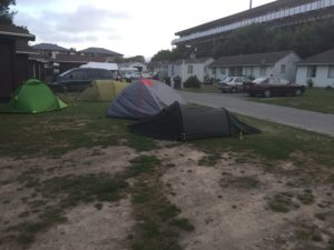 Notre camping pour cette première étape à Christchurch.