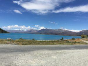 Le Lac Tekapo, théâtre principal de cette étape de notre road-trip.